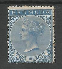 BERMUDA SG4 THE 1877 QV 2d BRIGHT BLUE MOUNTED MINT CAT £475