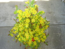 """plastic artificial yellow apricot flower tree without pot 40"""" tall (hoa mai)"""
