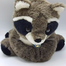 Raccoon Plush Stuffed Animal Dakin Vintage 1986 1980s Blue Tag