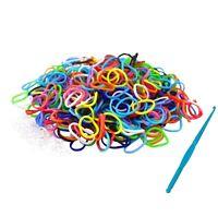600 pcs Loom Bands Bandz Rainbow MIX Colour Rubber Refill Trendy Make Bracelet