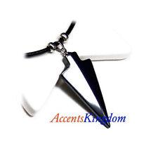 """Men's Hematite Arrow Pendant Leather Cord Surf Surfer Necklace 18"""""""