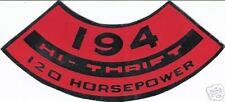 HI-THRIFT 194/120 HP Decal CHEVROLET  CHEVELLE