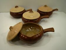 lot of 4 Watt Oven Ware Peedeeco USA handled casseroles lid bowl French Onion