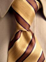 Men's Banana Republic Brown Stripes Silk Tie Made in Italy A28175