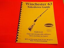 TAKEDOWN MANUAL GUIDE WINCHESTER 22 Cal MODEL 63 Rifle, for cleaning & repair
