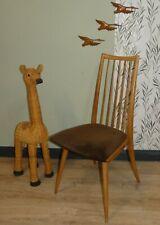 sixties Stuhl Eßzimmerstuhl 60er Sprossenstuhl Cord braun 1 von 2