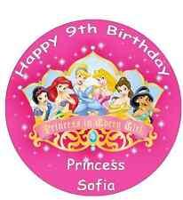 "Disney Princess Personalised Cake Topper Edible Wafer Paper 7.5"""