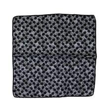 $185 New ITALO FERRETTI Gray Black Abstract 100% Silk Handkerchief Pocket Square