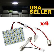 4x Universal White 36-LED Interior Lights Panel Lamps Kit Dome Map Bulbs 12V