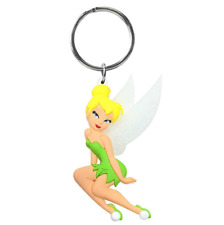 Disney Tinkerbell Soft Touch Keyring Keychain, NEW