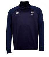 IRELAND Mens Blue Canterbury IRFU VapoDri Elite Rugby 1st Layer Sweater Top BNWT