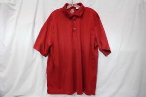 CUTTER & BUCK CB DryTec Luxe Red Golf Polo/Tee, Cotton Blend, Mens XXL-B5