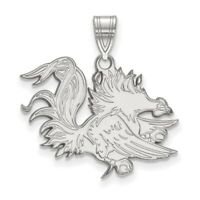 University of South Carolina Gamecocks Cocky Full Body Sterling Silver Pendant
