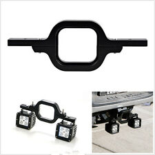 Black Metal Tow Hitch Mounting Autos 4X4 Backup Reverse Lights Bracket Universal