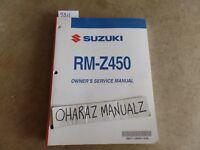 2009 SUZUKI RM-Z450 Service Manual OEM