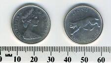 Canada 1967- 25 Cents Silver Coin - Q.E. II - Lynx - Confederation Centennial #3