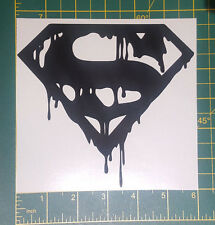 "Superman doomsday emblem 6""  wide plus custom sizes also available in white"