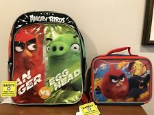 NEW ROVIO ANGRY BIRDS BACKPACK AND LUNCHBOX Anger Vs Egghead