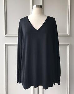 | COUNTRY ROAD | merino V-neck pullover knit black | NEW | SIZE: XS,S,L,XL,XXL |
