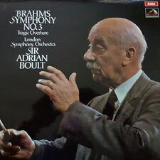 ASD 2660 Brahms Symphony No. 3, Tragic Overture / Boult / LPO