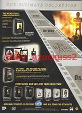 The Wicker Man Dr Who DVD Box Sets 2002 Magazine Advert #7025