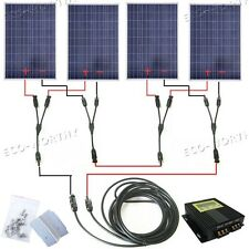 400W Solar Panel Complete Kit:4×100W Solar Panel with MPPT 24V Home Solar System