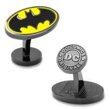 Batman CUFFLINKS Oval Logo DC Comics w/Gift Box