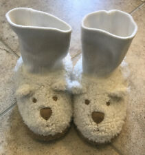 Baby Gap Teddy Bear Off White Unisex Slippers Size Toddler 11