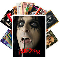 Postcards Pack [24 cards] Alice Cooper Rock Music Posters Vintage CC1225