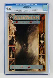 Sandman #1 CGC 9.4 White Pages First Morpheus Appearance 1st App Key Grail NM