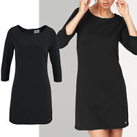 genial Marken KLEID Jersey Jerseykleid schwarz Gr.34 XS SHIRTKLEID Tunika