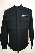 Denham Mens Tank Button Shirt, Size S, Shadow Black, 100% Cotton, BNWT