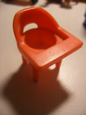 Vintage fisher price little people accessoire 1972 Nursery Chaise Haute