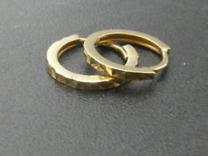 Ohrringe 585 GOLD 14 Karat Gelbgold earrings Kreolen Creolen boucle oro