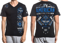 American Fighter Mens Short Sleeve T-Shirt McCORMICK Black Camo S-L $40 NWT