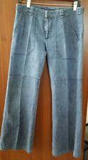 Joseph 100% Cotton Women's Flare Blue Denim Pants Jeans Medium M