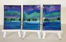3 Original Watercolour Paintings - Coniston Twilight