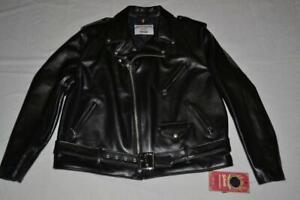 Schott Nyc 618HH Cuir de Cheval Perfecto Cuir Veste Moto Noir Toutes Tailles