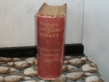 1924 WOODFALLS LAW OF LANDLORD AND TENANT LAW BOOK LEGAL
