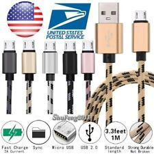 3FT Micro USB Fast Charging Phone Data Sync Charger Braided Cable For Intex Aqua
