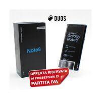 """SAMSUNG GALAXY NOTE 8 DUOS BLUE 64GB 6,3"""" DUAL SIM N950FD N950F PER P.IVA."""