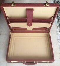 Pollini Valigetta Uomo Vintage Man Document Bag Briefcase Lether  Bordeaux