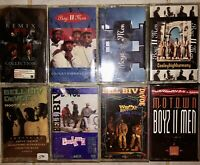 LOT OF 8 BOYS II MEN & BELL BIV DEVOE CASSETTE TAPES 2 FACTORY SEALED LOOK!!!