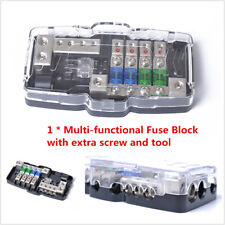 Car Audio Stereo ANL Fuse Holder Distribution 0/4ga 4 Way Fuses Box Block 30A