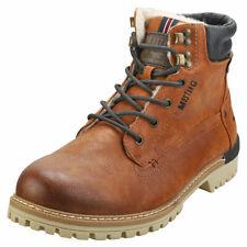 Mustang Lace Up Side Zip Mens Cognac Chukka Boots - 10.5 UK