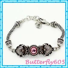 Silver Bracelet Nwot Brighton Alexandria Pink