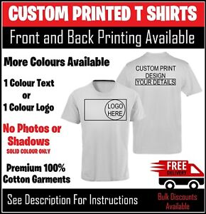 Custom Printed Personalised T Shirts Premium Men Stag Charity Work Tshirt Logo