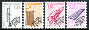 France 2368-2371, MNH.Musical Instruments.Trumpet,Tanbourin,Hurdy-gardy,1993