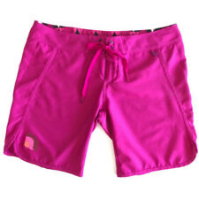 THE NORTH FACE Women's Hot-Pink Poly Board Shorts Rip Lace-Up Front SIZE 10 Long