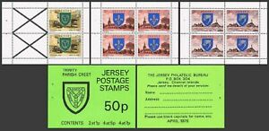 Jersey 138a-139a-141a booklet. 1977.Arms of Trinity.Zoo Park,Church,Lighthouse.